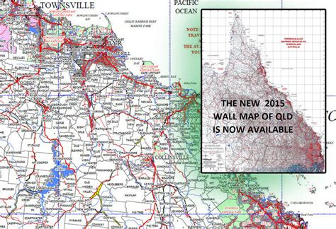 Queensland Pastoral Stations laminated wall map | map of