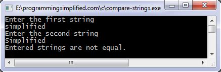 String compare in C | Programming Simplified
