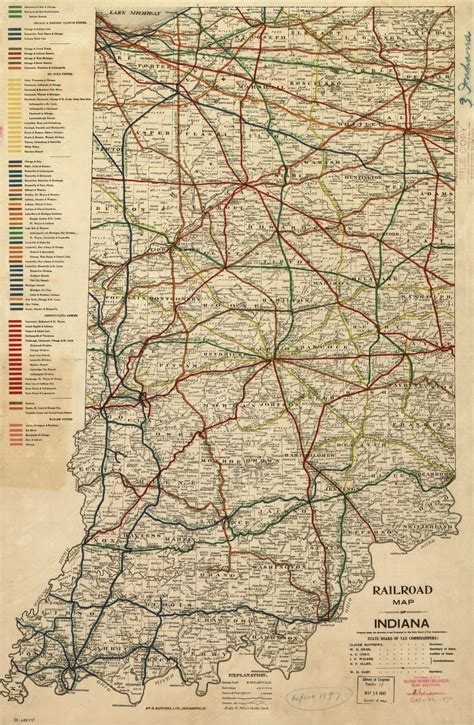 Railroad map of Indiana