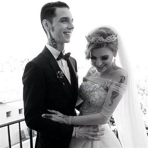 Beautiful picture of Andy and Juliet   Andy biersack