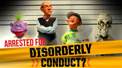 Arrested for Disorderly Conduct? | JEFF DUNHAM - YouTube
