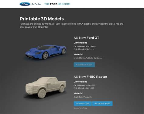 Ford Launches Online 3D Printed Model Car Shop – Print
