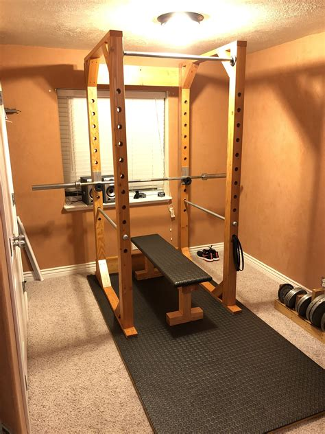 Weight Rack and Bench in 2020 (With images) | Diy home gym