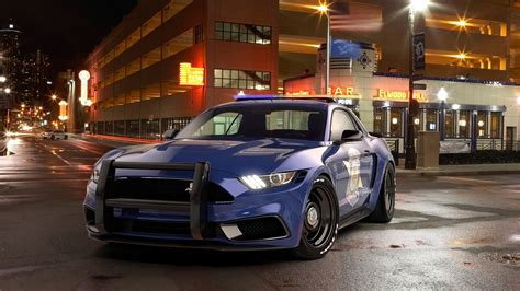 2017 Ford Mustang NotchBack Design Police Wallpapers | HD