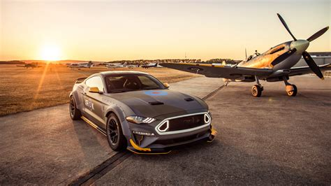 Wallpaper Ford Eagle Squadron Mustang GT, Sunset, 2018, 4K