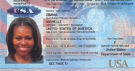 Scan of Michelle Obama's passport appears online - E